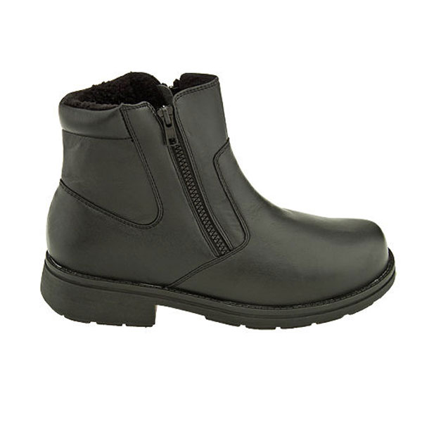 Propet Reggie Boots for Men: Leather Upper & Twin Zippers