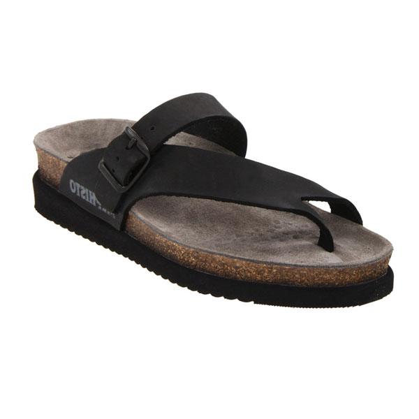 Mephisto Helen Black Sandals
