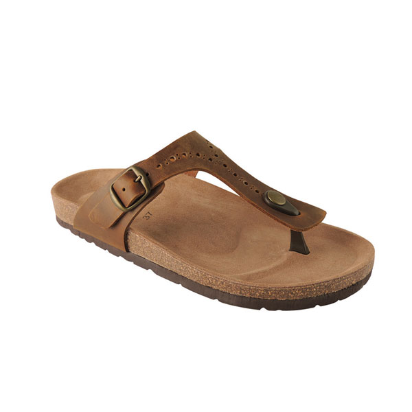 Biotime Brooke Cognac: buckle strap sandals for owmen