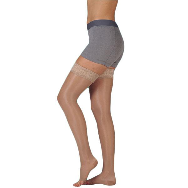 Juzo Naturally Sheer Thigh High Compression Stockings