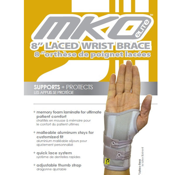MKO DUAL STAY WRIST LACER 8 Inches