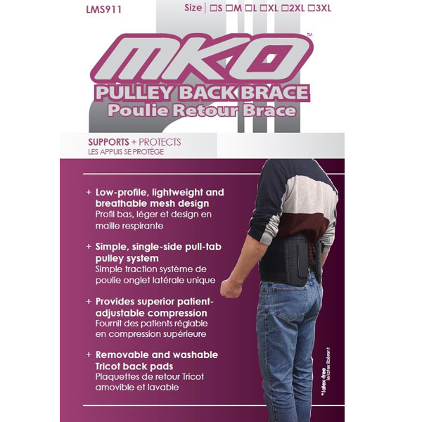 MKO Pulley Back Brace