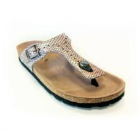 Biotime Brooke Snake Print Sandals