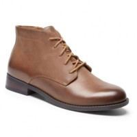 vonic mira tan leather women's lace-up boot